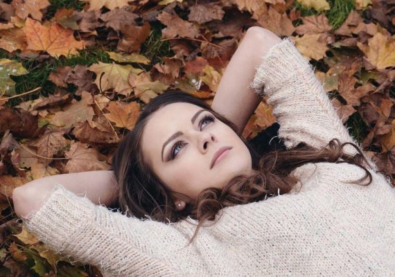 Day dreaming on an autumn day in the park