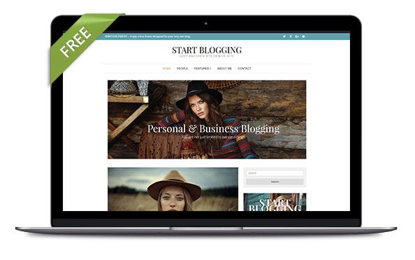 WordPress Theme Start Blogging