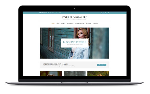 WordPress Theme Start Blogging Pro